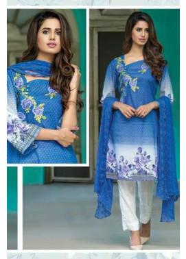 ZS Textile Embroidered Lawn Unstitched 3 Piece Suit FV17L 06