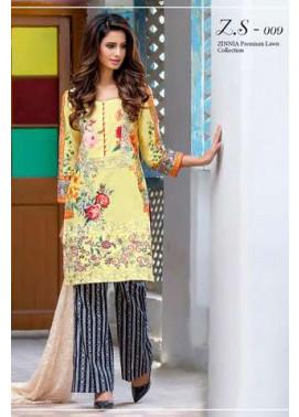 ZS Textile Embroidered Lawn Unstitched 3 Piece Suit FV17L 09