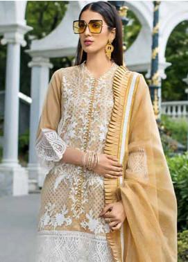Gul Ahmed Embroidered Zari Net Unstitched 3 Piece Suit GA18-E2 EA-50 - Eid Ul Azha Collection