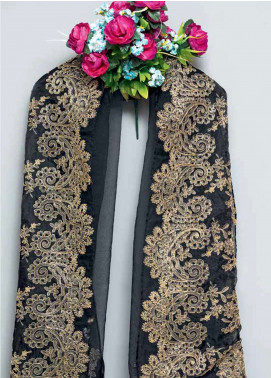 Gul Ahmed Embroidered Organza Unstitched Dupatta GA18E RE-02 - Festive Colelction