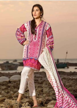 Gul Ahmed Printed Lawn Unstitched 2 Piece Suit GA18G GT-12 - Festive Collection