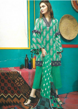 Gul Ahmed Printed Lawn Unstitched 3 Piece Suit GA18L CL-417B - Essential Collection