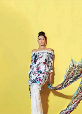 Gul Ahmed Printed Lawn Unstitched 3 Piece Suit GA18L BS-15 - Premium Collection