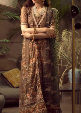 Ghazal by AIK Atelier Embroidered Chiffon Unstitched 3 Piece Suit AK20G LOOK-02 - Luxury Collection