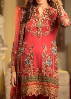 Ghazal by AIK Atelier Embroidered Chiffon Unstitched 3 Piece Suit AK20G LOOK-03 - Luxury Collection