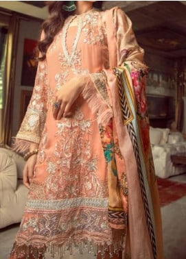 Ghazal by AIK Atelier Embroidered Chiffon Unstitched 3 Piece Suit AK20G LOOK-06 - Luxury Collection