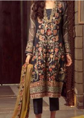 Ghazal by AIK Atelier Embroidered Chiffon Unstitched 3 Piece Suit AK20G LOOK-08 - Luxury Collection