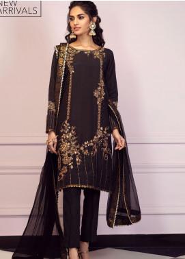 Zaaviay Embroidered Raw Silk Stitched 3 Piece Suit GEHNA2-002 KOHINOOR