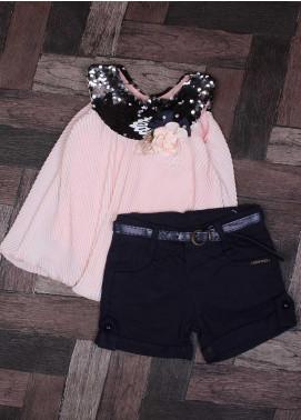 Sanaulla Exclusive Range Mix Cotton Fancy Suits for Girls -   9060 Pink