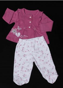Sanaulla Exclusive Range Cotton Fancy Suit for Girls - 11627 Dark Pink