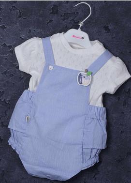 Sanaulla Exclusive Range Cotton Fancy Girls Suit -  2537 Blue