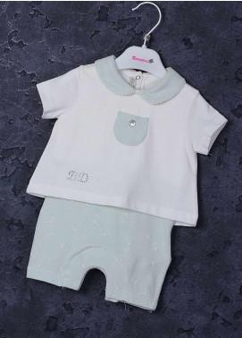 Sanaulla Exclusive Range Cotton Fancy Suit for Girls - 40242 Off White
