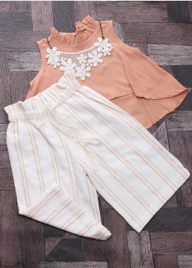 Sanaulla Exclusive Range Mix Cotton Fancy Suits for Girls -  6004 Orange