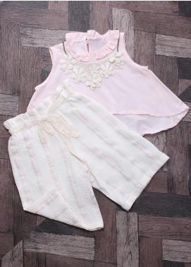 Sanaulla Exclusive Range Mix Cotton Fancy Girls Suits -  6004 Pink