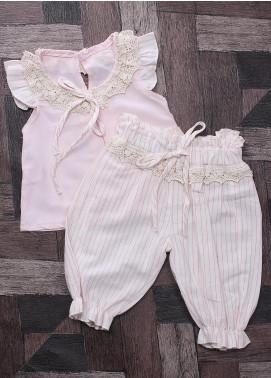 Sanaulla Exclusive Range Mix Cotton Fancy Suits for Girls -  6071 Pink