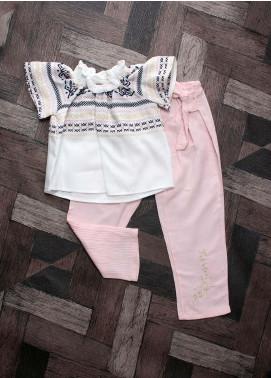 Sanaulla Exclusive Range Mix Cotton Fancy Girls Suits -  6095 Pink