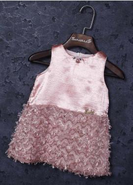 Sanaulla Exclusive Range Mix Cotton Fancy Girls Frocks -   1860 Pink