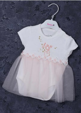 Sanaulla Exclusive Range Cotton Fancy Girls Frocks -  2237 Pink