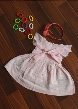 Sanaulla Exclusive Range Cotton Fancy Girls Frocks -  5417 Pink