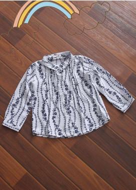Sanaulla Exclusive Range Cotton Fancy Shirts for Girls -  CQ-14 Grey