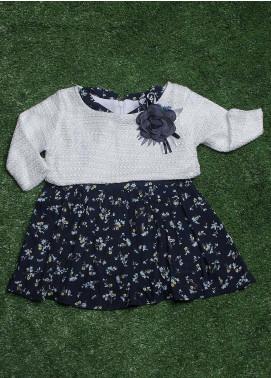 Sanaulla Exclusive Range Cotton Fancy Frocks for Girls -  050K0277 Blue