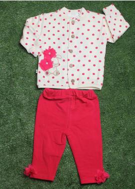 Sanaulla Exclusive Range Cotton Fancy Girls 3 Piece Suit -  075K450 Cream