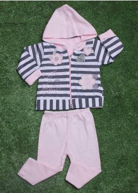 Sanaulla Exclusive Range Cotton Fancy Girls 3 Piece Suit -  19130 Pink
