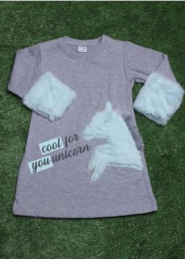 Sanaulla Exclusive Range Cotton Fancy Kurtis for Girls -  292K20563 Grey