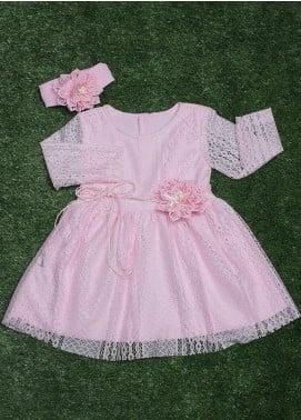 Sanaulla Exclusive Range Cotton Fancy Frocks for Girls -  318 Pink