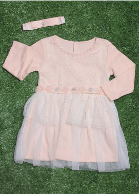 Sanaulla Exclusive Range Cotton Fancy Girls Frocks -  371 L-Pink