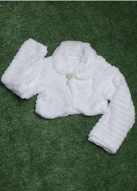 Sanaulla Exclusive Range Cotton Fancy Tops for Girls -  810 White