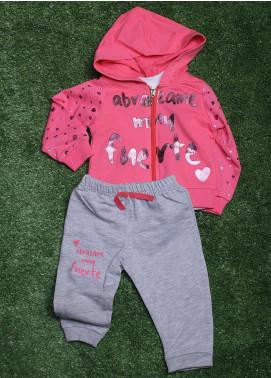 Sanaulla Exclusive Range Cotton Fancy Girls 3 Piece Suit -  835 Pink