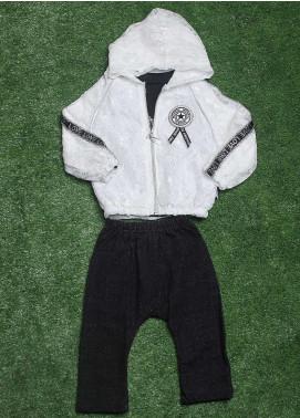 Sanaulla Exclusive Range Cotton Fancy 3 Piece Suit for Girls -  90169 White