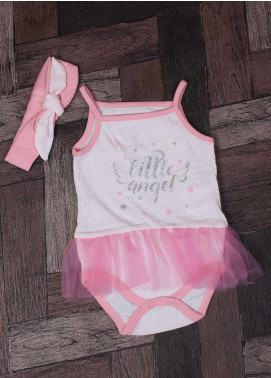 Sanaulla Exclusive Range Mix Cotton Fancy Frocks for Girls -  7631 Dark Pink