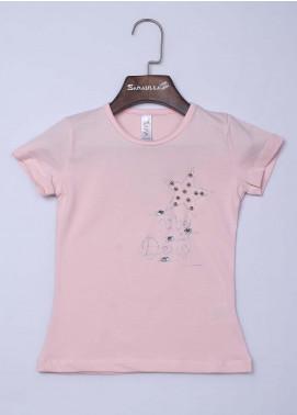 Sanaulla Exclusive Range Cotton Casual Girls T-Shirts -  95753 Pink