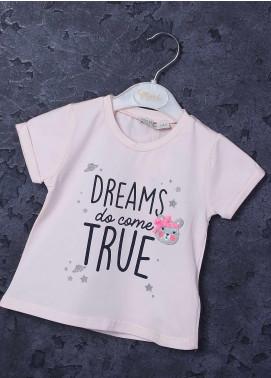 Sanaulla Exclusive Range Mix Cotton Printed Girls T-Shirts -  97123 Light Pink
