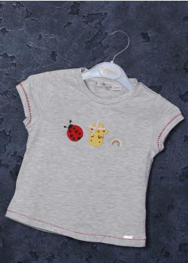 Sanaulla Exclusive Range Mix Cotton Printed Girls T-Shirts -  97126 Grey