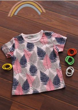 Sanaulla Exclusive Range Cotton Fancy Girls Tees -  802550 Pink