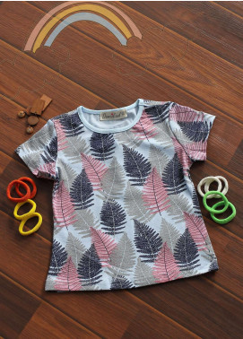 Sanaulla Exclusive Range Cotton Fancy Tees for Girls -  802550 Sky Blue