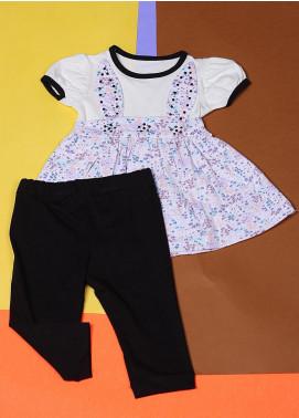 Sanaulla Exclusive Range Cotton Casual Suit for Girls -  22388-3 Grey