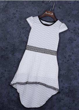 Sanaulla Exclusive Range Cotton Fancy Frocks for Girls -  22457-3 White