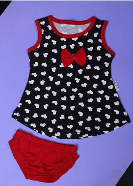 Sanaulla Exclusive Range Cotton Casual Suit for Girls -  22542-2 Black