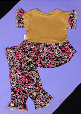Sanaulla Exclusive Range Cotton Casual Suit for Girls -  22595-1 Yellow