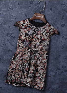 Sanaulla Exclusive Range Cotton Fancy Girls Frocks -  22706 Multi-2