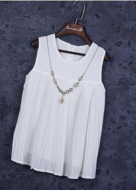 Sanaulla Exclusive Range Cotton Casual Girls Suit -  22883-2 White