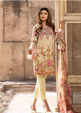 Gulkari Embroidered Lawn Unstitched 3 Piece Suit GK18L 7B - Spring / Summer Collection