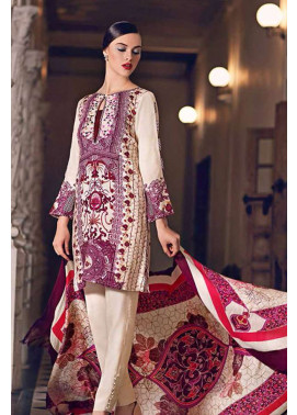 Gul Ahmed Embroidered Marina Unstitched 3 Piece Suit GL17W2 SW28