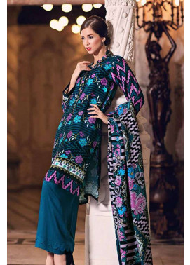 Gul Ahmed Printed Viscose Unstitched 3 Piece Suit GL17W2 SW35