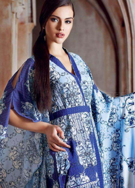 Gul Ahmed Printed Crep Unstitched 3 Piece Suit GL17W MU1