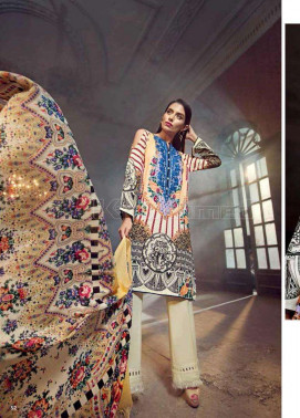 Brand new 3pc unstitch pure marina shalwar kameez suit